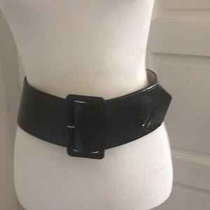 Black leather BeBe belt
